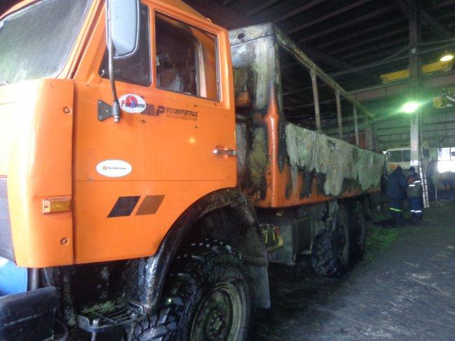 ОНД (по г. Радужный) Пожар в автомобиле 11 февраля 2016 года.