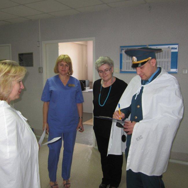 Учебная эвакуация в больничном комплексе БУ «РГБ».