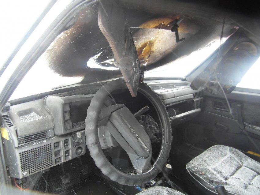 Пожар в автомобиле 19 февраля 2017 года.