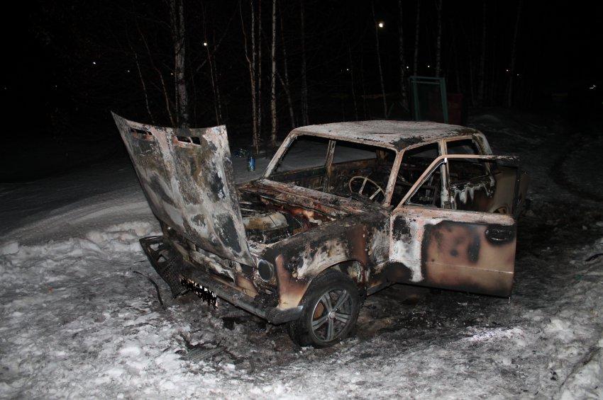 Пожар в автомобиле 16 марта 2017 года.
