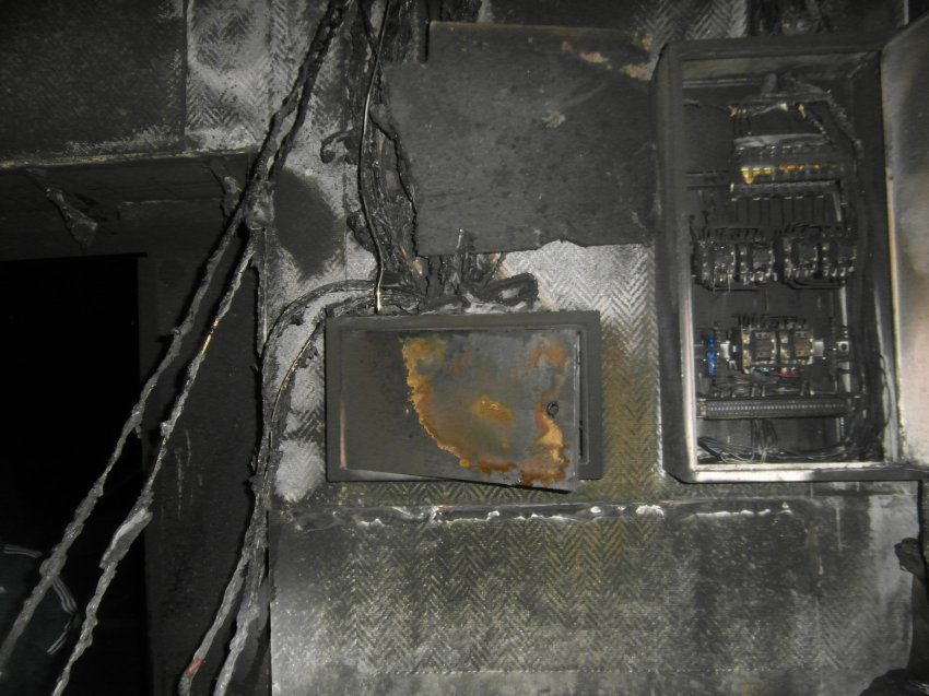 Пожар 16 августа 2017 года в помещении административного здания производственной базы.