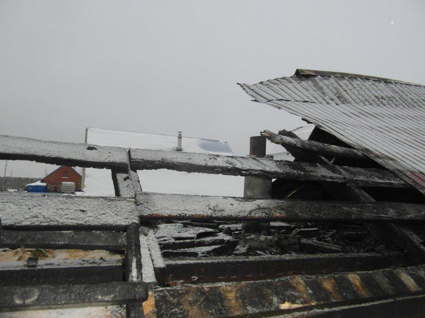 Пожар в строении бани 22 декабря 2017 года.