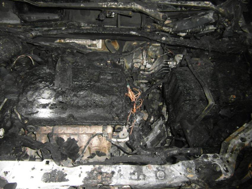 Пожар в автомобиле 22 марта 2018 года.