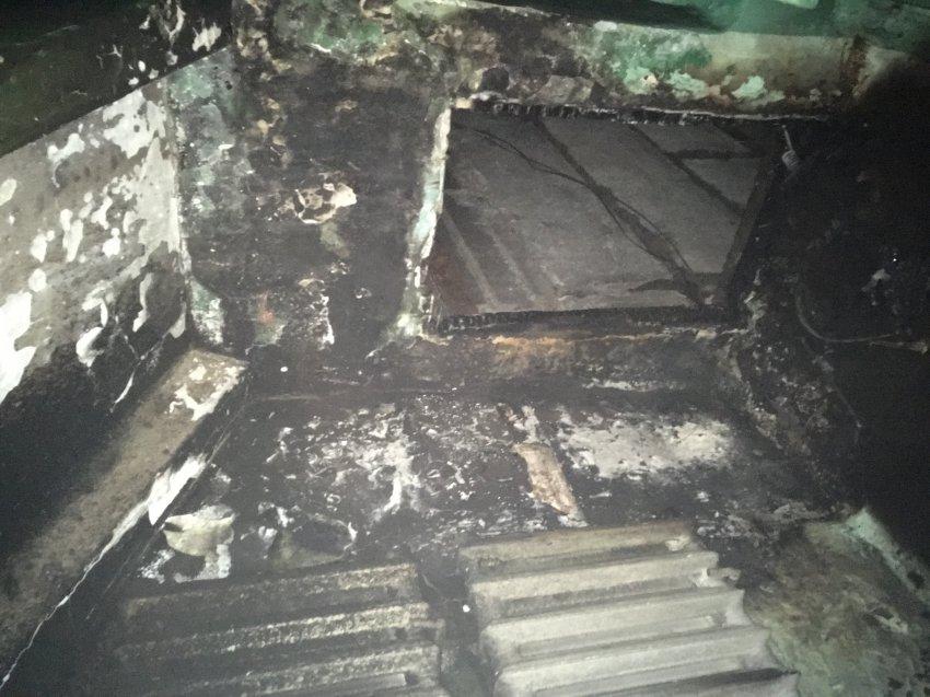 Пожар 25 марта 2018 года в подъезде многоквартирного жилого дома.