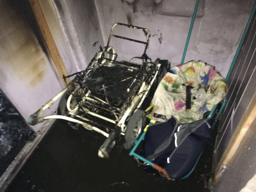Пожар 29 июня 2018 года в подъезде многоквартирного жилого дома.
