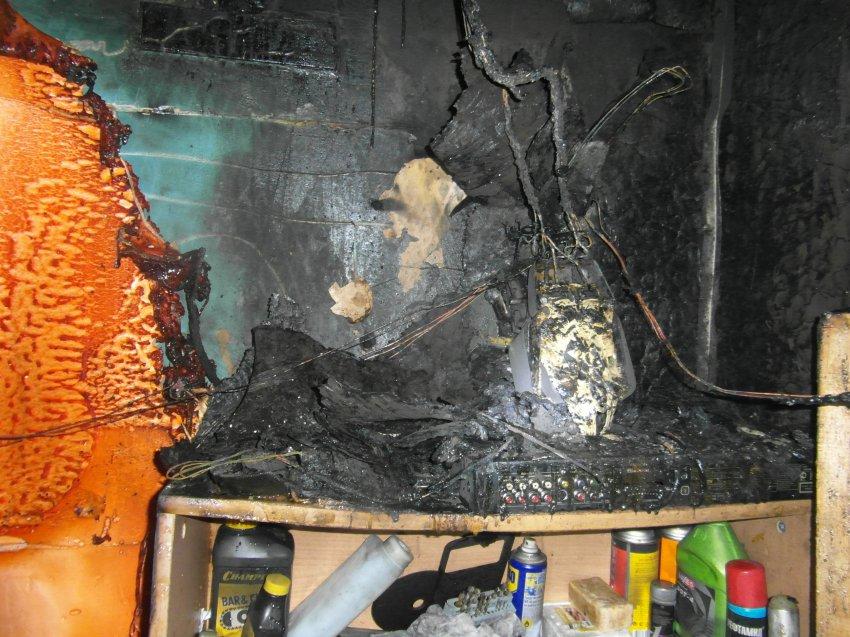 Пожар в гараже ГСК «Динамо» 13 октября 2018 года.