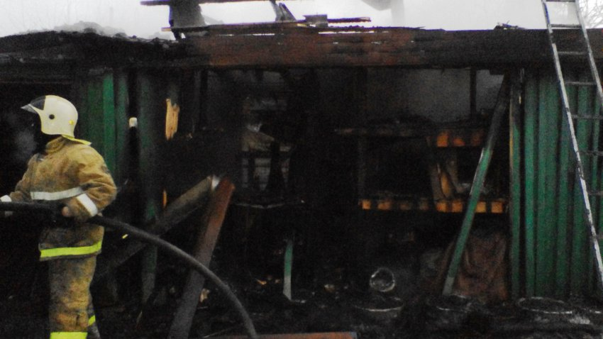 Пожар в строении бани 5 ноября 2018 года.