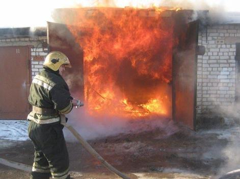 Пожар в гараже ГСК «Энергетик» 25 ноября 2020 года.
