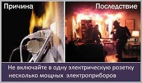 Холод-причина пожара!