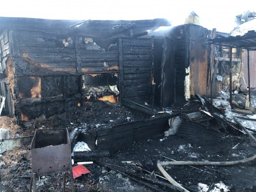 Пожар в частном жилом доме 07 марта 2021 года.