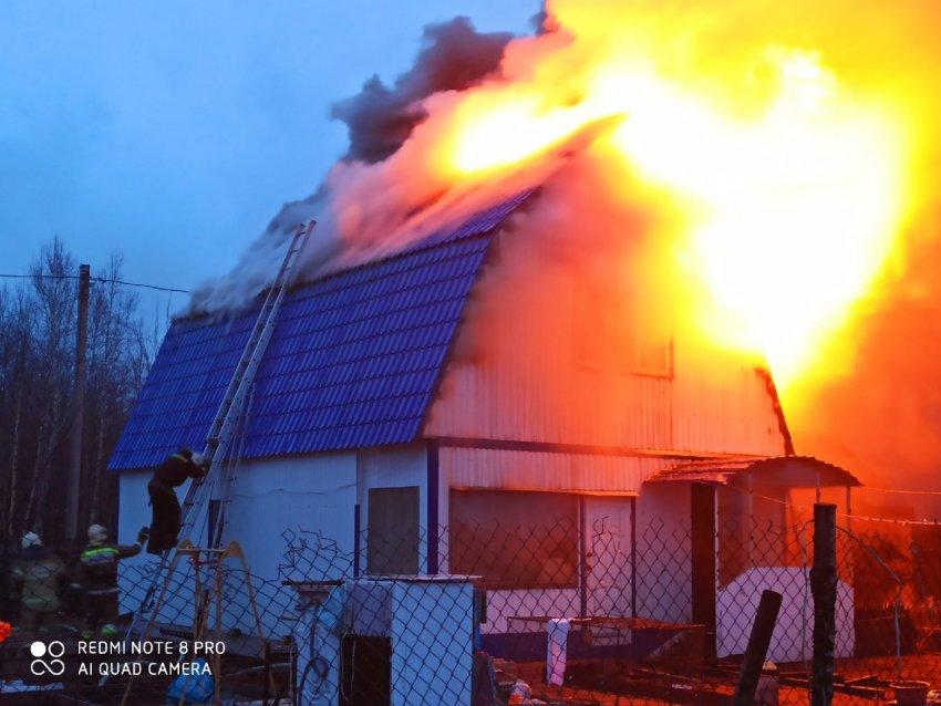 Пожар в жилом доме 30 апреля 2021 года.